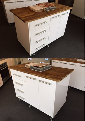 Movable Island Kitchen Workbench - 1100mm