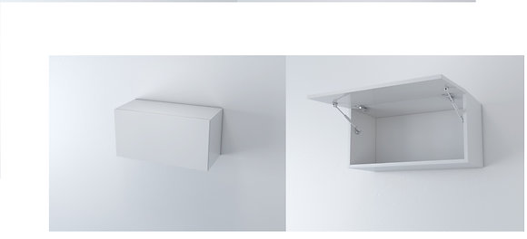 Slimline Wall Unit 1000W Flap (Over Fridge)