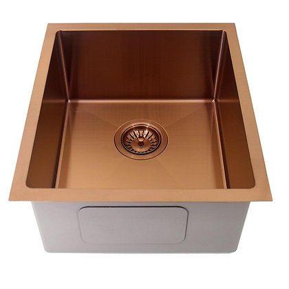 Top and under-mount Handmade Sink 130R - 550mm Rose gold