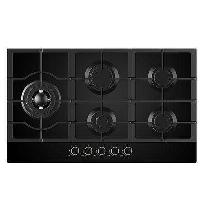 90cm Black Glass Gas Cooktop 90G50ME060-GFL