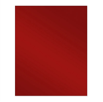600 x 750 Red Glass Splashback