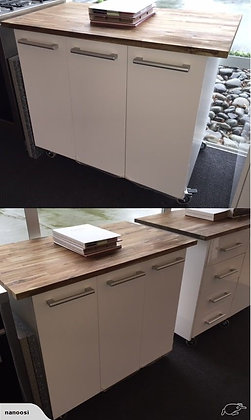 Movable Island Kitchen Workbench - 1020mm