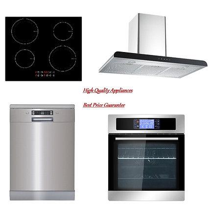Range-hood + Built in Oven +Induction Hob + Dishwasher