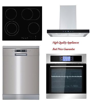 Range hood + Built-in Oven + Ceramic Hob+ Dishwasher