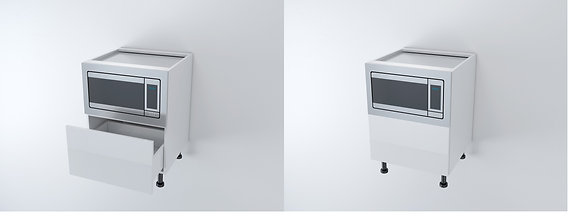 Base Microwave Unit with One Drawer 600W