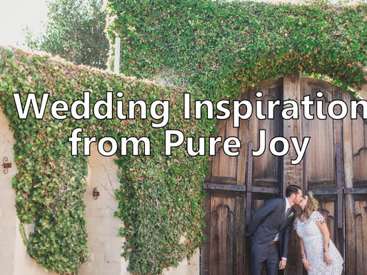 5 Wedding Inspirations From Pure Joy