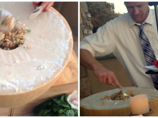 Dreaming of a Risotto Station in a Giant Parmesan Wheel? Tell us, We're Your Huckleberries!