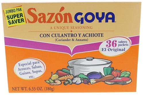 Sazonador Goya Con calandro y Achiote 36 packs