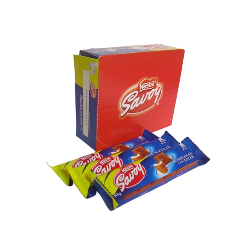 Savoy Chocolate de Leche Box of 12 units