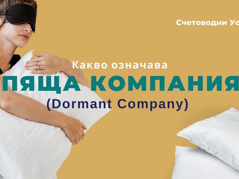 Какво означава спяща компания в Англия (Dormant Company)?