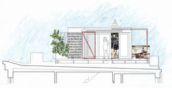 Architect's sketch- new Brooklyn roof deck with stunning Manhattan views