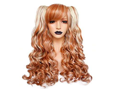 Brown Two Ponny Tails Lolitas Wig
