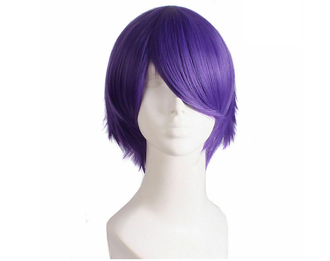 Short Purple Wig