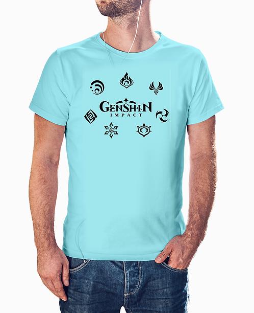 Genshin Impact Elements Symbols T-Shirt