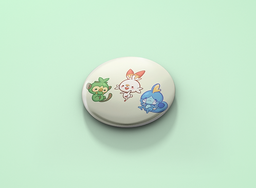 Pokemon Galarian Starters Pin
