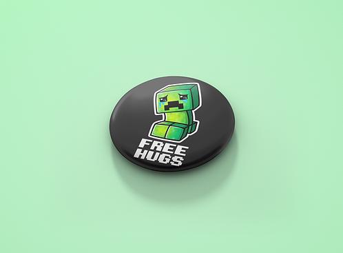 Minecraft Free Hugs Pin