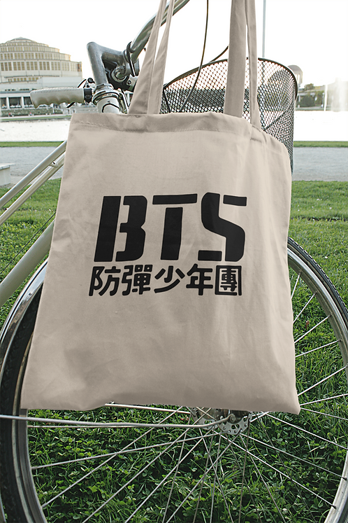 K-POP BTS Logo Tote Bag