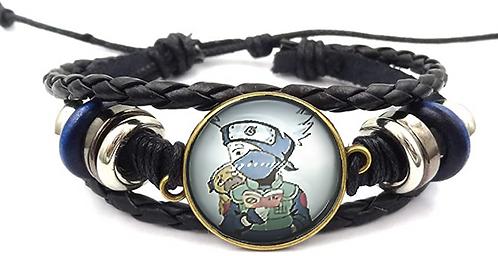 Naruto Kakashi Leather Bracelet