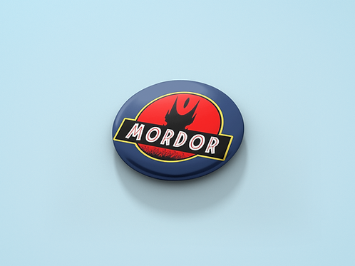 Jurassic Park Logo inpired  Lord of the Rings Mordor Pin