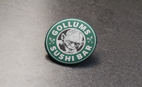 Starbucks Logo Inspired Lord of the Rings Gollum Pin