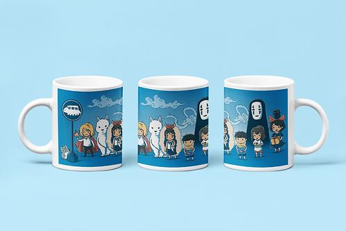 Studio Ghibli Chibi Characters Mug