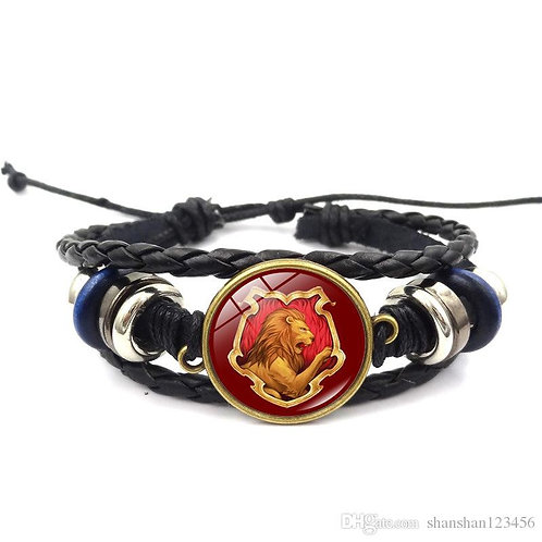 Harry Potter Gryffindor Leather Bracelet