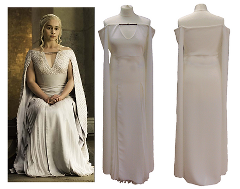 Game of Thrones Daenerys Targaryen White Dress Cosplay