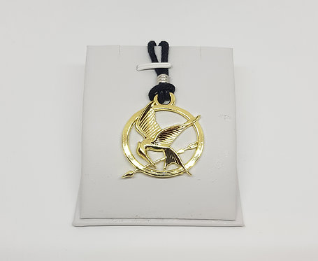 Hunger Games Gold Logo Necklace