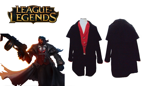 League of Legends Mafia Graves Cosplay