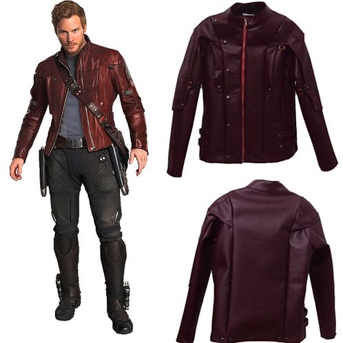 Marvel Guardians of the Galaxy Star Lord Jacket Cosplay