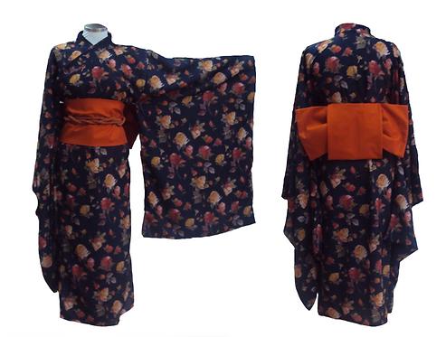 Dark Blue Female Kimono