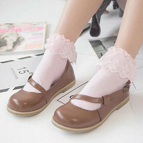 Lolita Pink Short Sockets