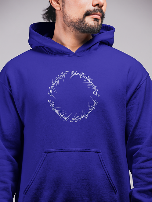 Lord of the Rings The One Ring inscriptions Hoodie