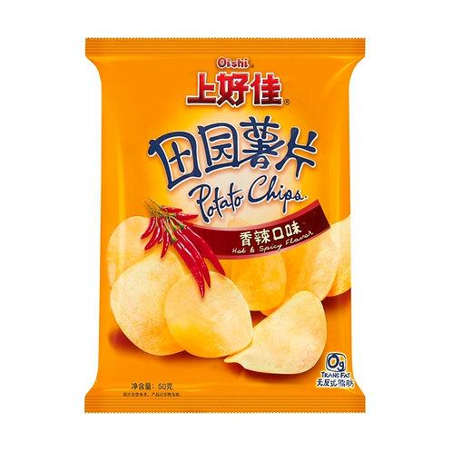 Oishi Potato Chips Spicy Flavor