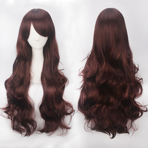 Curly Long Brown Wig