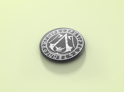 Assassin's Creed Norse Inspired Logo Pin