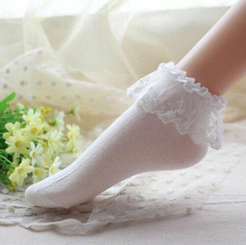 Lolita White Short Sockets