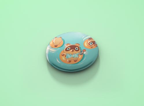 Animal Crossing Tom Nook Vacation Pin