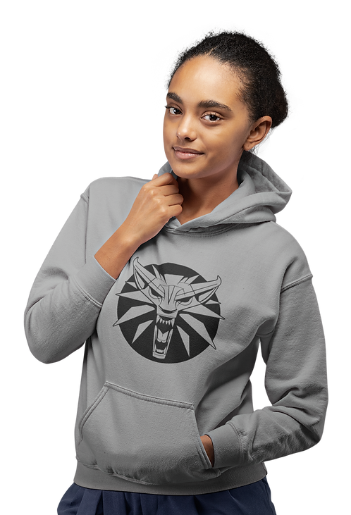 The Witcher White Wolf Geralt of Rivia Logo Hoodie
