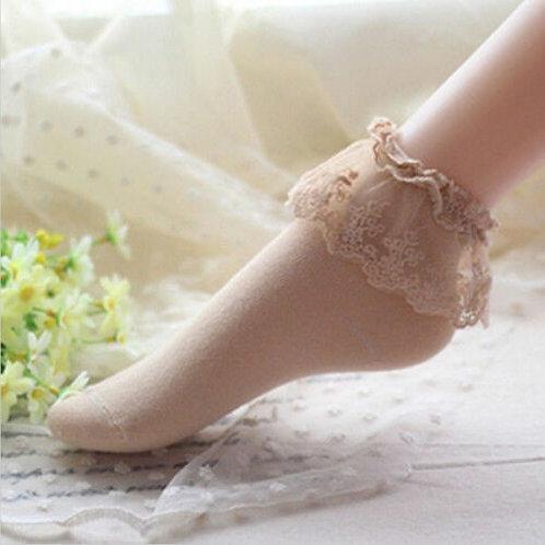 Lolita Beige Short Sockets