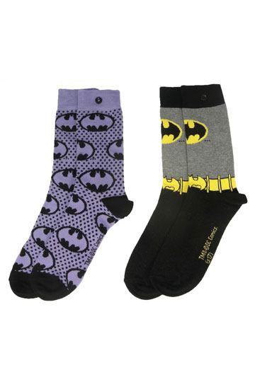DC Comics Ladies Socks 2-Pack Batman Purple
