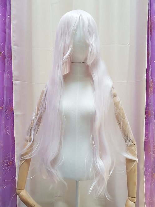 Long Straight Light Pink Wig