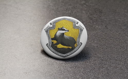 Harry Potter Hufflepuff Crest Pin
