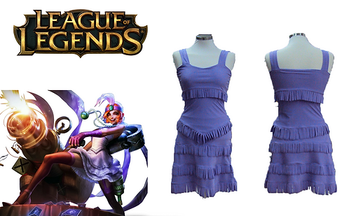 League of Legends Mafia Jinx Cosplay