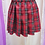 Thumbnail: Red Color Chess Pattern School Uniform Skirt