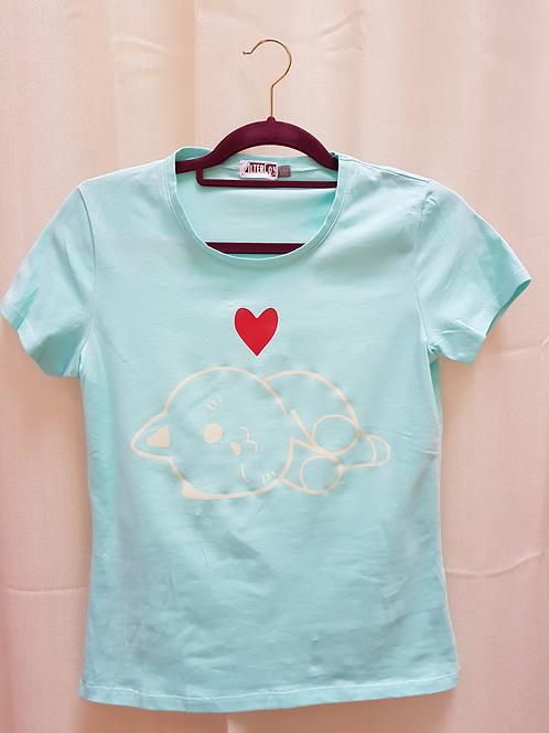 Kawaii Sleeping Cat T-Shirt