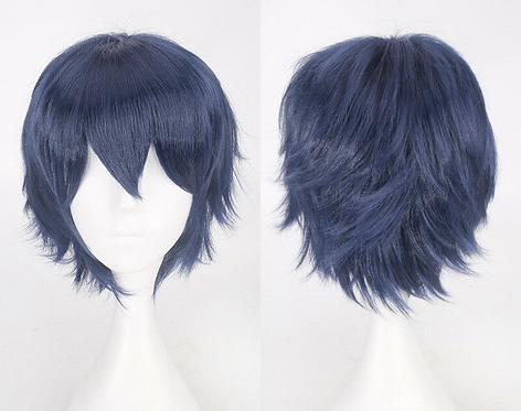Short Dark Blue Wig