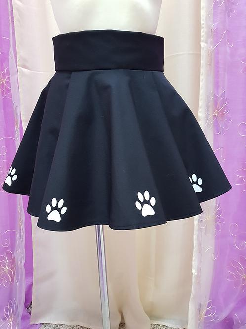 Black Cat Paws Skirt