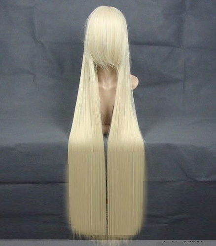 Long Straight Blonde 130cm Wig