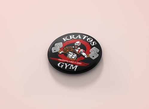 God of War Kratos Gym Pin